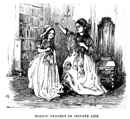 HORRID TRAGEDY IN PRIVATE LIFE, A CARTOON BY W.M. THACKERAY