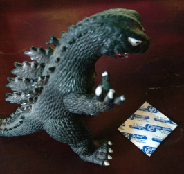 Godzilla reacts with shock to an 'Oxygen Absorber'
